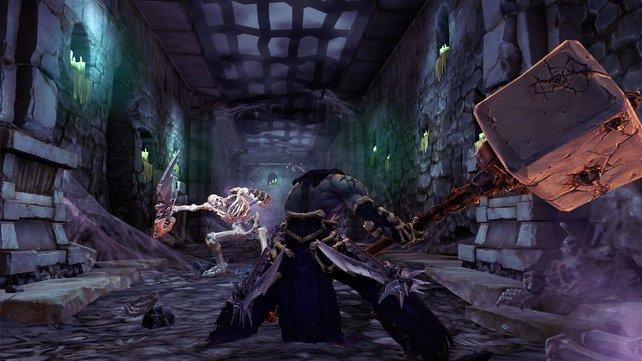 Tod und sein Hammer: Das Skelett sollte lieber die Beine in die Hand nehmen.