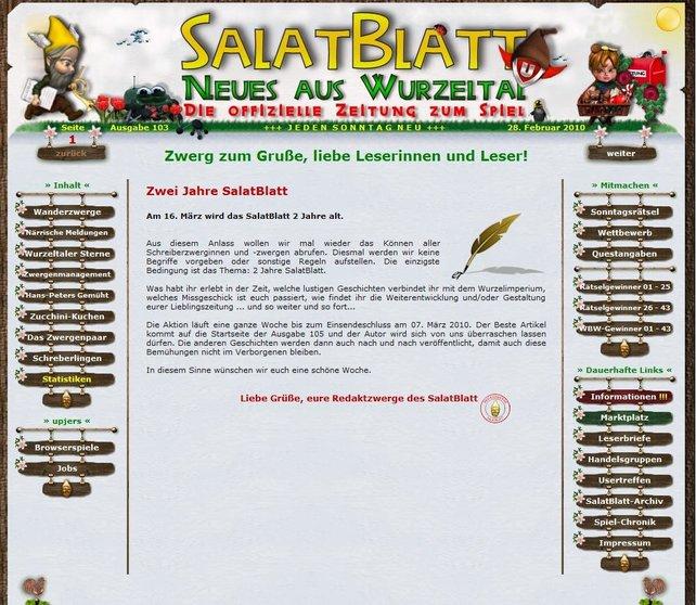 Das SalatBlatt, die Community-Zeitung von Wurzelimperium.