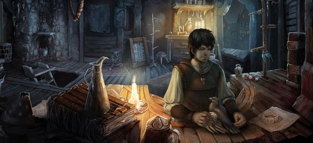 Geron in seiner Werkstatt.