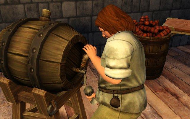 Bier ist im Mittelalter kein Genussgetränk, sondern gesünder, da keimfreier als das damalige Wasser.