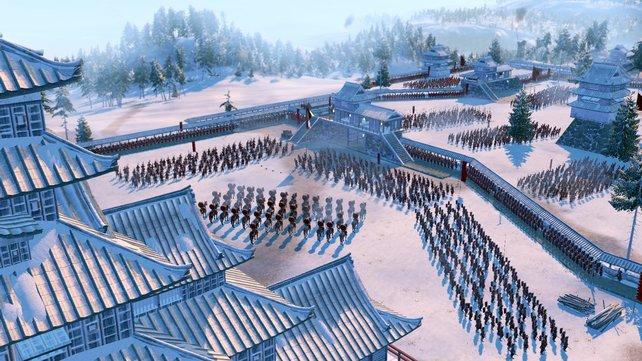 Japanische Festungen werden zu Todeszonen. So wird der Feind so stark wie möglich ausgedünnt bis zur finalen Schlacht.