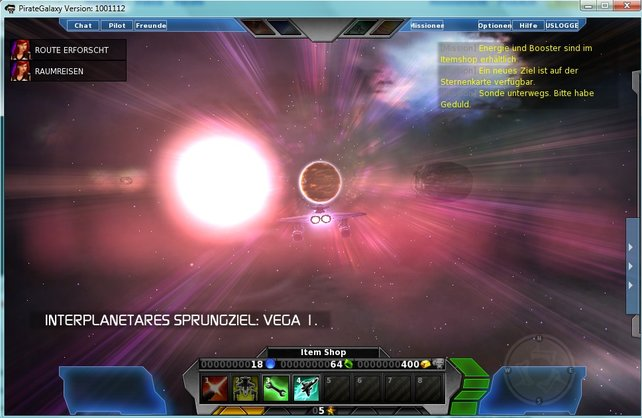 Durchs Universum geht's nach Vega I, um dort für Ordnung zu sorgen!
