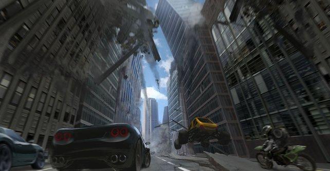 Die Welt von Motorstorm 3 liegt in Schutt und Asche. Und ihr fahrt mitten durch.
