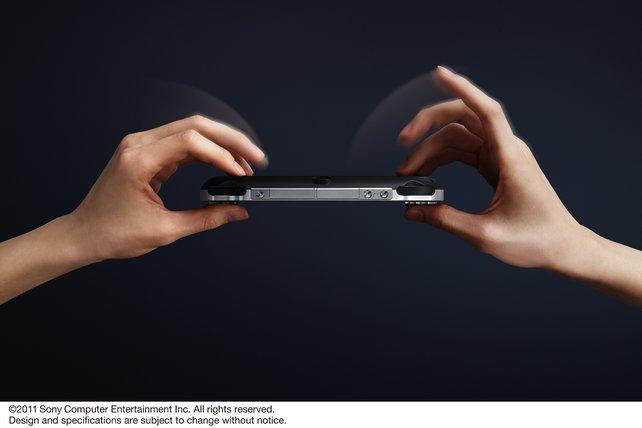 Auch die Rückseite der PS Vita dient als Steuerungselement.