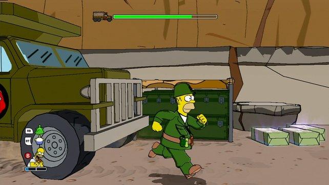"""Homer als Soldat in """"Medal of Homer"""""""