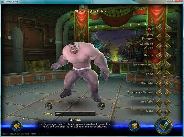 Nach der Auswahl der Charaktereigenschaften sieht unser Ork-Krieger angsteinflößend aus.