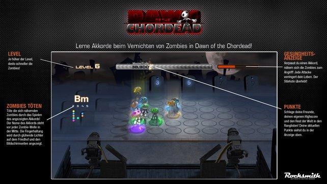 In Dawn of the Chordead erledigt ihr Zombies mit den richtigen Akkorden.