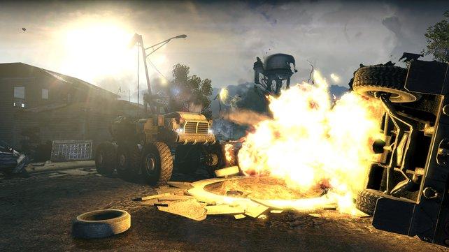 Feuer und Explosionen sind integraler Bestandteil von Homefronts Action-Konzept.