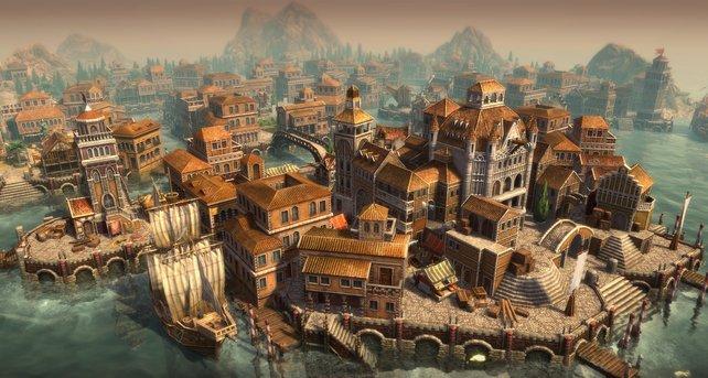Die große venezianische Kogge ist ein mächtiges Handelsschiff.