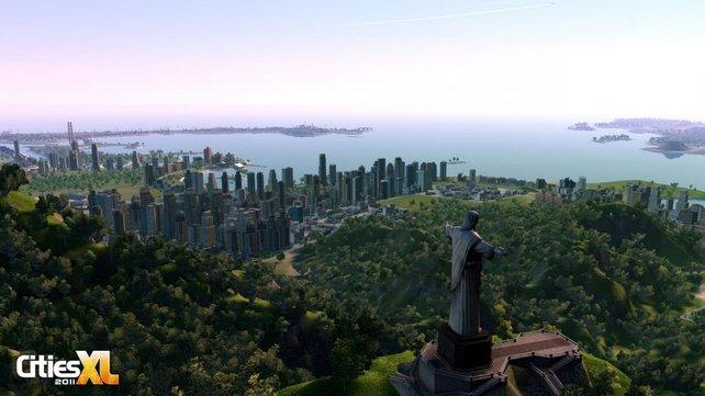 New York, Rio, Tokio - zahlreiche Sehenswürdigkeiten lassen sich errichten.