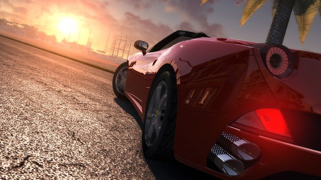 Im Freie-Fahrt-Modus einfach mal anhalten und den Sonnenuntergang genießen - das ist TDU.