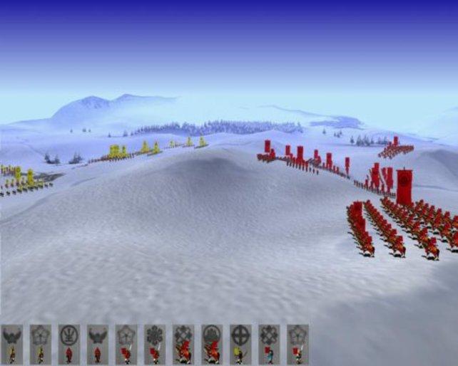 Eine Schlacht im Schnee