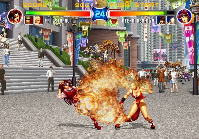 "Wer sieht den Unterschied: Kampf aus ""The King of Fighters ´94"" ..."