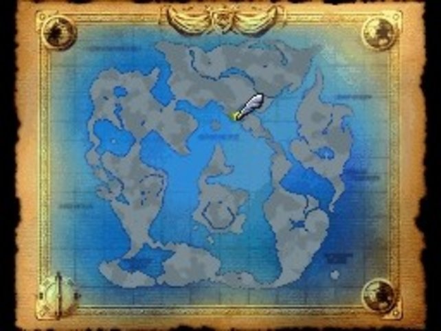 Die Weltkarte.