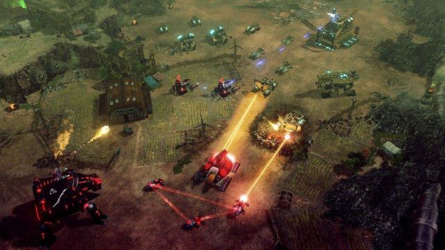 Spider-Tanks schließen sich zusammen und verstärken ihre Wirkung.