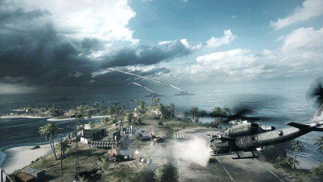 Auf der Insel Wake Island gibt es wunderschöne Palmen und blaues Meer - ach ja, und Krieg!