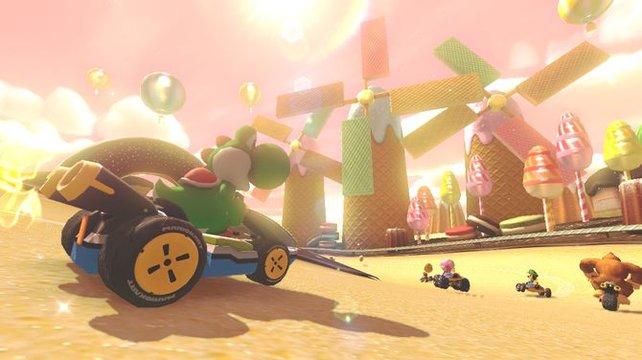 Auf den Zuckersüßen Canyon folgt die schaurige Gruselwusel-Villa. Mario Kart 8 ist ein Spiel der Kontraste.