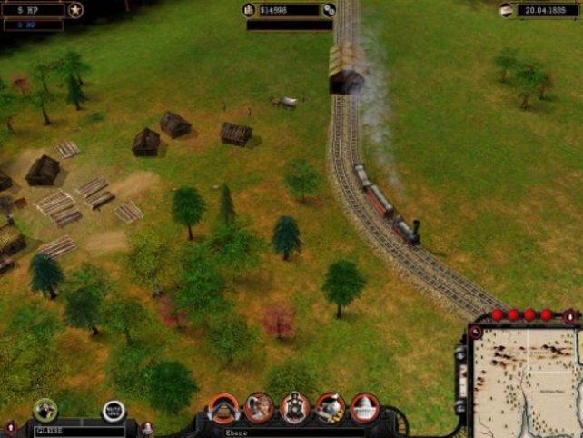 Ein Zug ist unterwegs