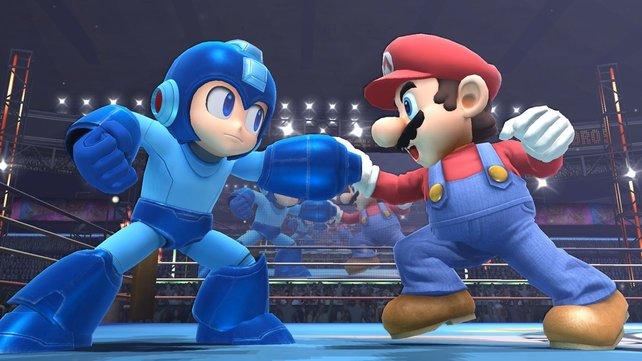 Was für ein Duell: Mega Man gegen Mario!