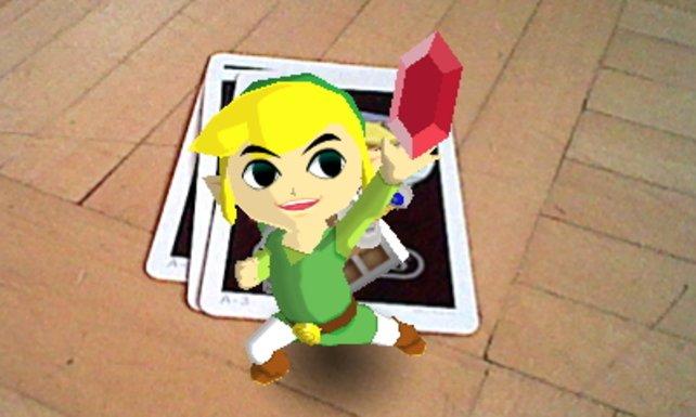Ja, wir verstecken Zelda-Held Link in unserer Bude! Und das Bild hat rein gar nichts mit den AR-Karten zu tun!