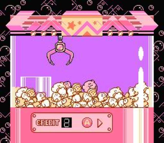In Kirby's Adventure gibt es viele Minispiele wie zum Beispiel einen Kirmeskran.