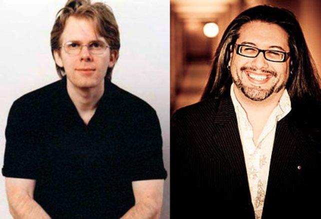 Nach Doom 2 trennen sich die Wege: Technikchef John Carmack (links) und sein früherer Partner John Romero.