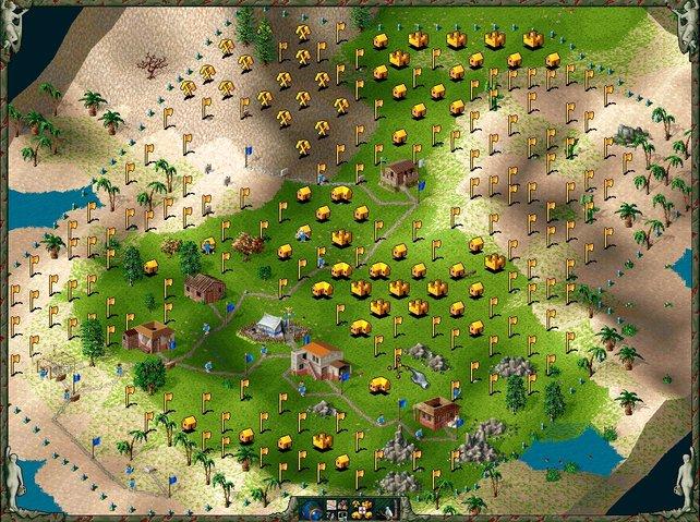 In Siedler 2 verbessert Blue Byte hauptsächlich Grafik und Spielmechanik.