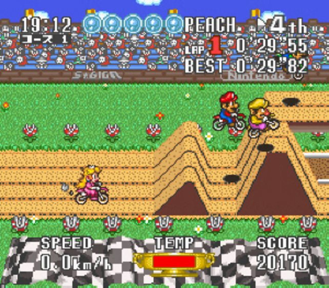 Für Satellaview erscheint auch diese Mario-Version von Excitebike.
