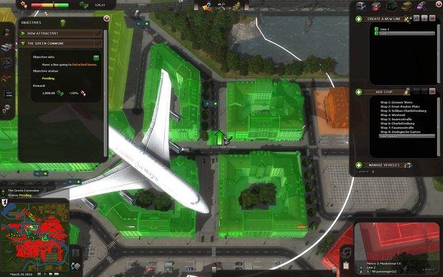 Im Spiel trefft ihr auf zahlreiche, liebevolle Details wie plötzlich auftauchende Flugzeuge.