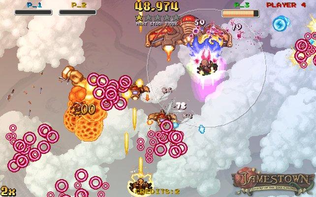 Vier Spieler dürfen gleichzeitig antreten, dann ist auf dem Bildschirm richtig was los.