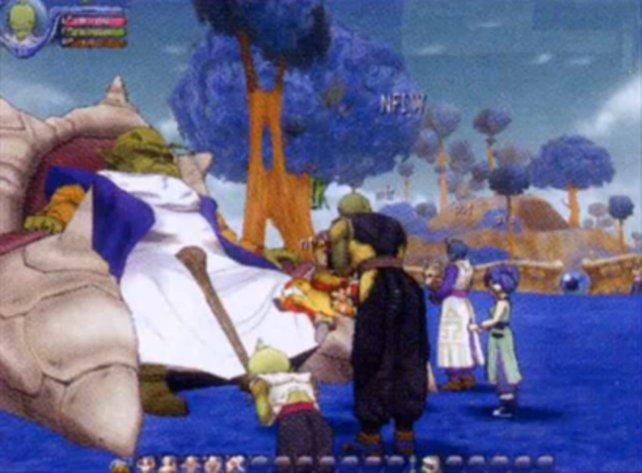 Auch alte Bekannte wie den Oberältesten von Namek trefft ihr in Dragon Ball Online.