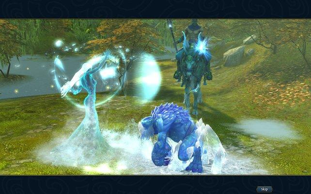 Die Naga arbeiten mit Eis- und Heilzaubern.