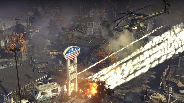 Die Explosionen sehen klasse aus, die Umgebung ist aber nicht komplett zerstörbar.