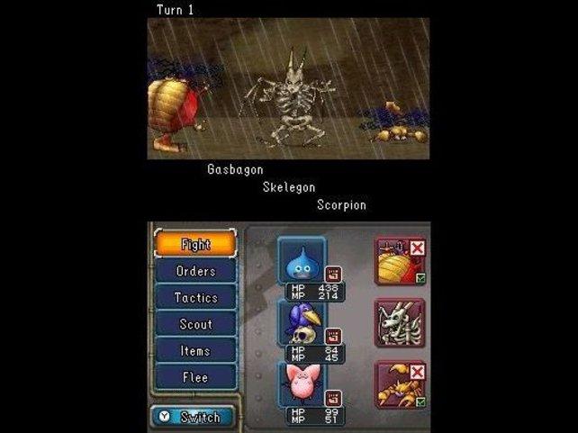 Die Kämpfe in Dragon Quest Monsters Joker 2 laufen rundenweise ab.