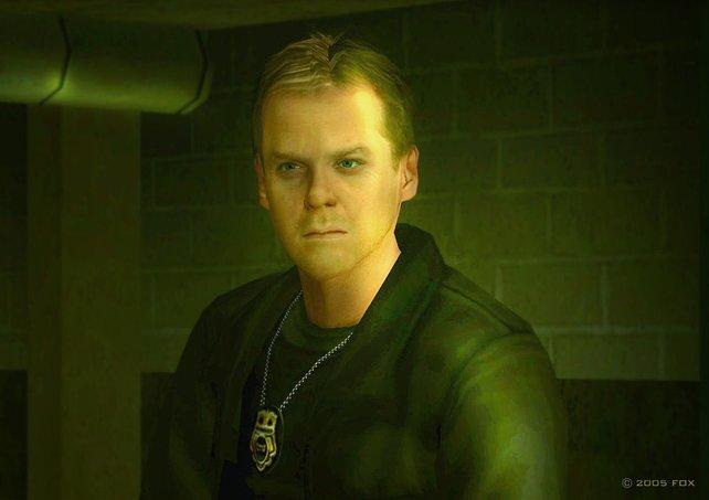 Der Hauptdarsteller Jack Bauer, im Original verkörpert von Kiefer Sutherland.
