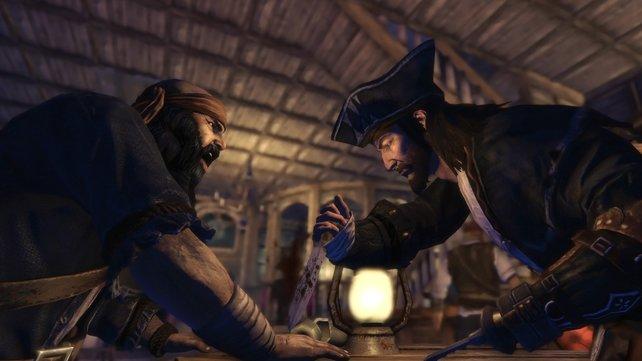 Messerspiele auf Piratenart.