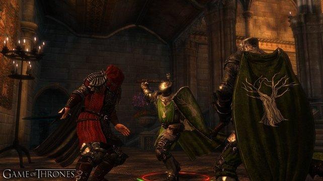 In den Kämpfen könnt ihr mehrere Gegner gleichzeitig attackieren oder euch nur auf einen konzentrieren.