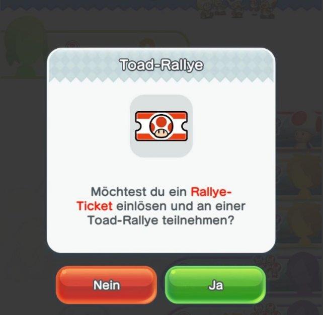 Für die Toad-Rallye benötigt ihr jede Menge und sehr wertvolle Rallye-Tickets.