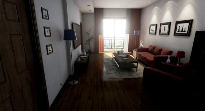 In einer Demo zur Unreal Engine 4 macht ihr eine Tour durch eine virtuelle Wohnung.