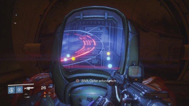 Dieses Terminal startet die Prüfungen in der Archon-Schmiede, wenn ihr ein SIVA-Opfer einsetzt.