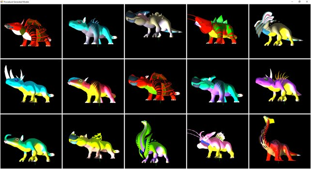 Diese Tiere könnte die Engine von No Man's Sky aus einem einzigen Gittermodell generieren. (Quelle: 3D Game Dev Blog)