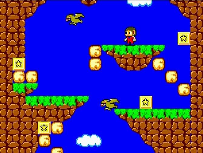 Alex Kidd erster Ausflug findet in Alex Kidd in Miracle World auf dem Sega Master System statt.