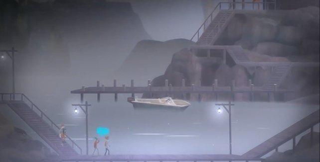 Da ist endlich ein Boot.