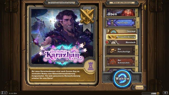 """Mit """"Eine Nacht in Karazhan"""" steht euch in Hearthstone ein neues Abenteuer zur Verfügung."""