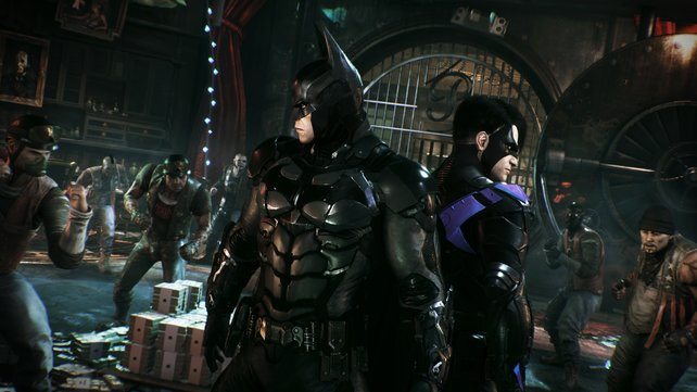 In bestimmten Missionen bekommt ihr Hilfe von Mitstreitern, beispielsweise Nightwing.