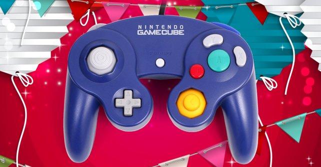 """Der Gamecube-Controller erhöht den Spielkomfort deutlich. Der (inoffizielle) medizinische Fachterminus """"Nintendo-Daumen"""" gehört damit der Vergangenheit an."""