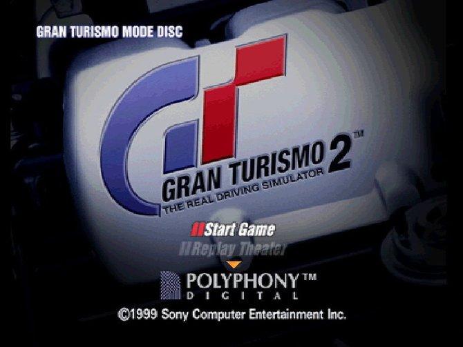 Der legendäre Startbildschirm von Gran Turismo 2.