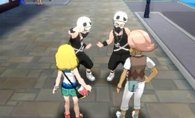 Team Skull möchte euch um eure Pokémon erleichtern.