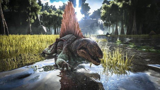 Ihr wollt diesem Dino einen neuen Anstrich verpassen? Mit Farbe und Pinsel kein Problem!