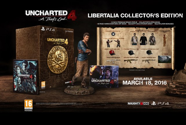 Die Libertalia Collector's Edition von Uncharted 4 - A Thief's End